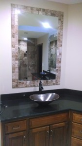 Mirror tile surround - Remodeling Bathroom Kansas City Northland