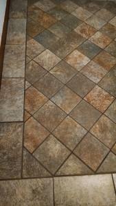 Installing Floor Tile - Remodeling Kansas City Northland