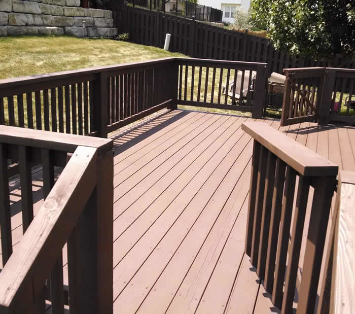 North Kansas City Deck Staining
